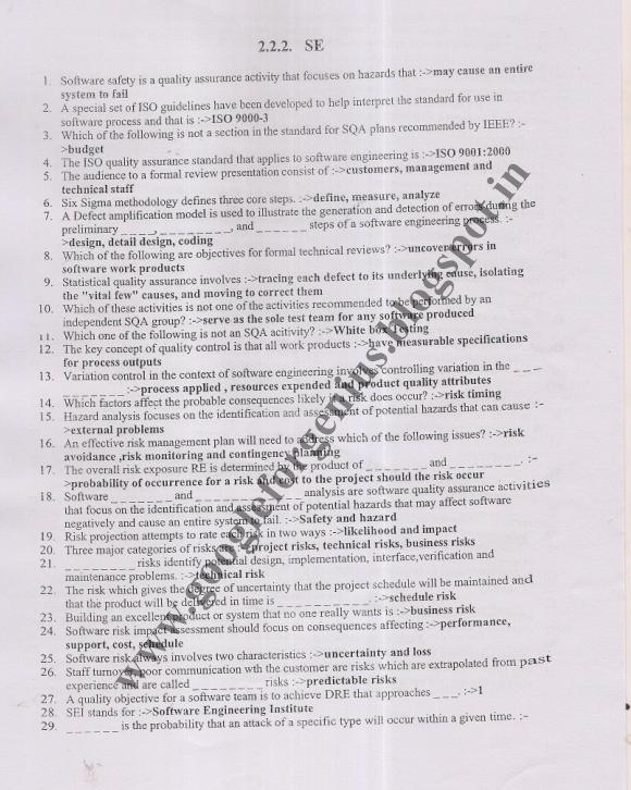 Jntu-K R10 2-2 2nd MID CSE Original Software Engineering